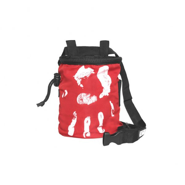 Chalk Bag Hand of Fate red